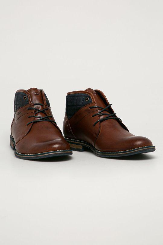 Wojas - Kožená obuv hnedá