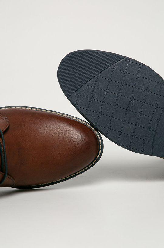 hnedá Wojas - Kožená obuv