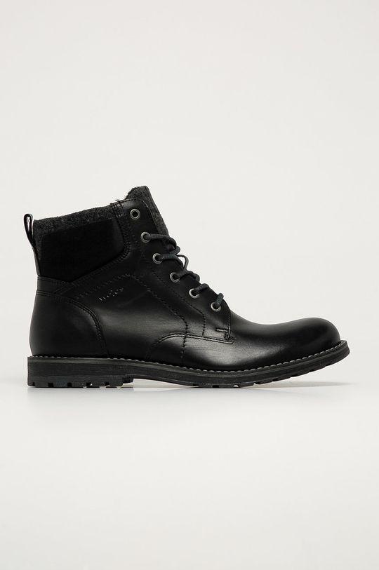 černá Wojas - Kožené boty Pánský