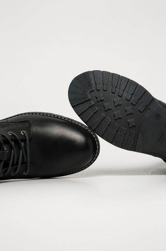 černá Wojas - Kožené boty