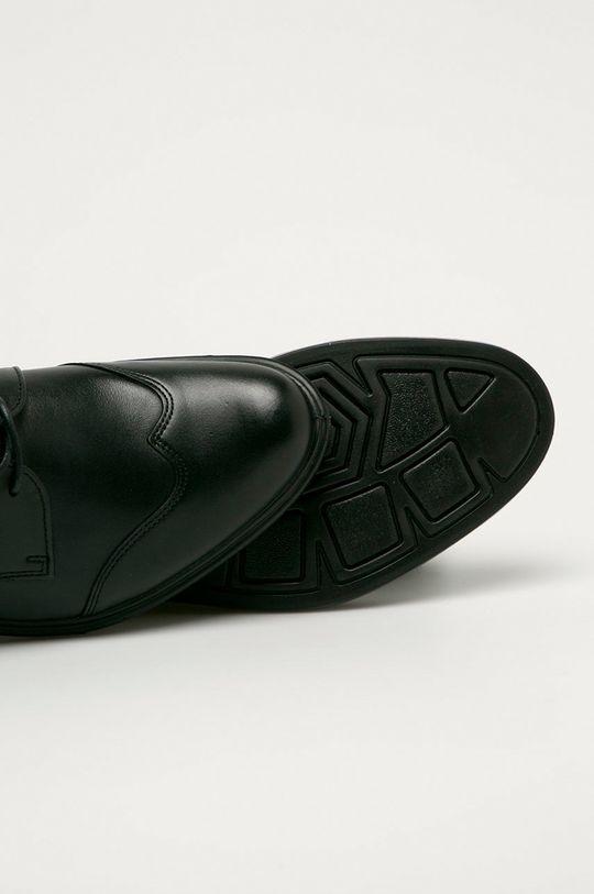 čierna Wojas - Kožené poltopánky