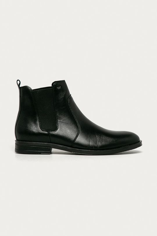 černá Wojas - Kožené kotníkové boty Pánský