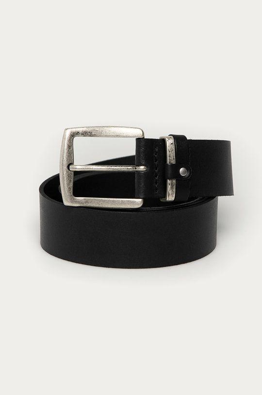 čierna Cross Jeans - Kožený opasok Pánsky
