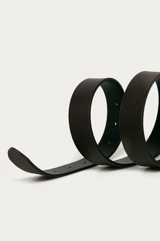 Cross Jeans - Kožený pásek hnědá