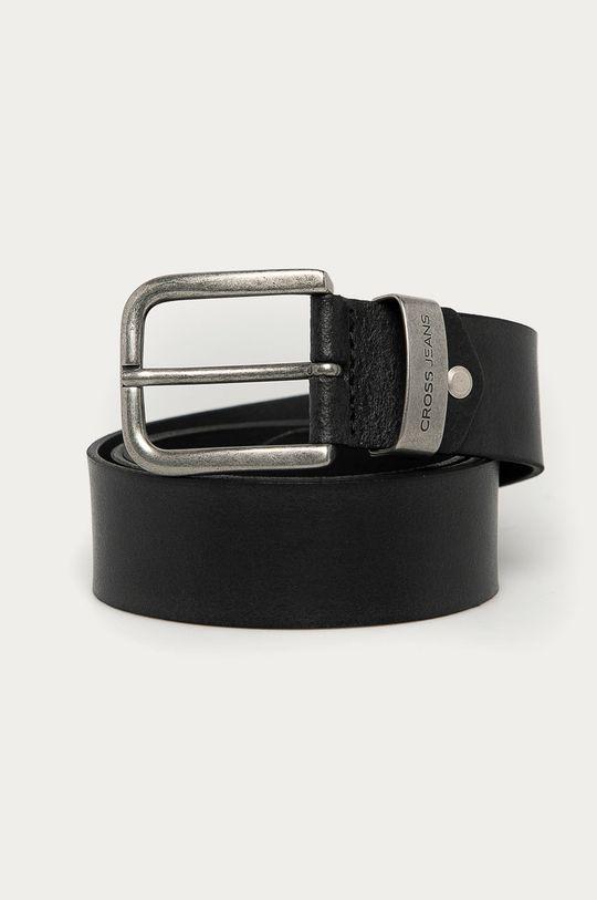 černá Cross Jeans - Kožený pásek Pánský