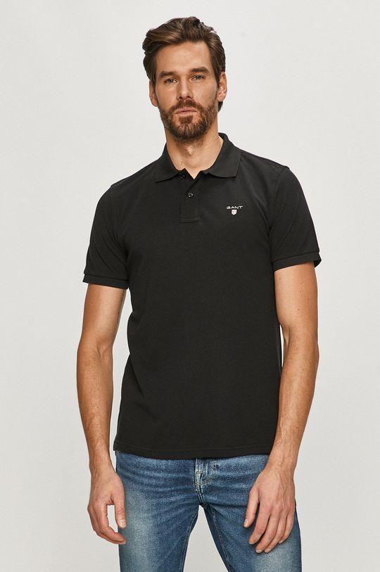 čierna Gant - Polo tričko Pánsky