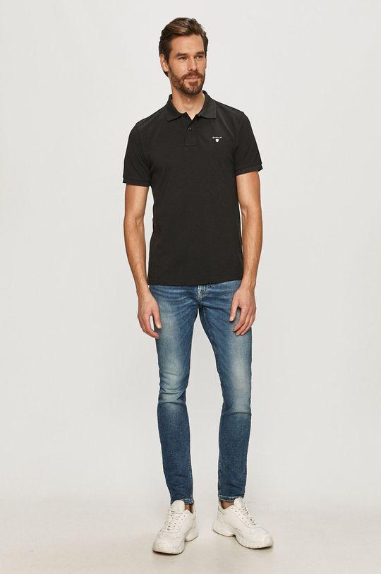 Gant - Polo tričko čierna