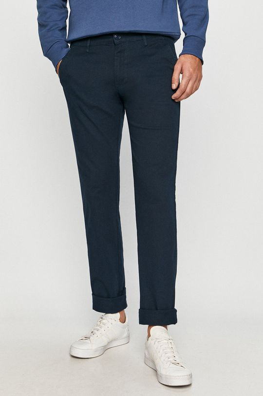 granatowy Cross Jeans - Spodnie Męski