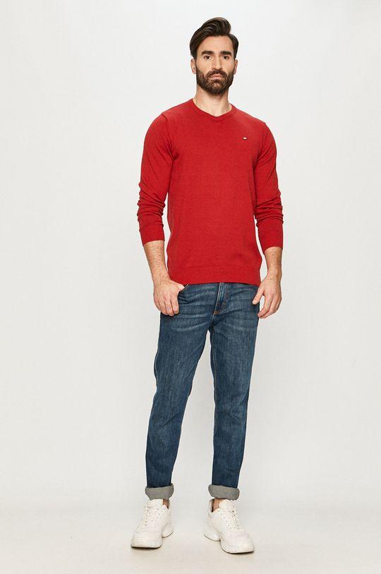 Cross Jeans - Sweter czerwony