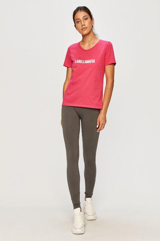LaBellaMafia - Tričko ostrá růžová