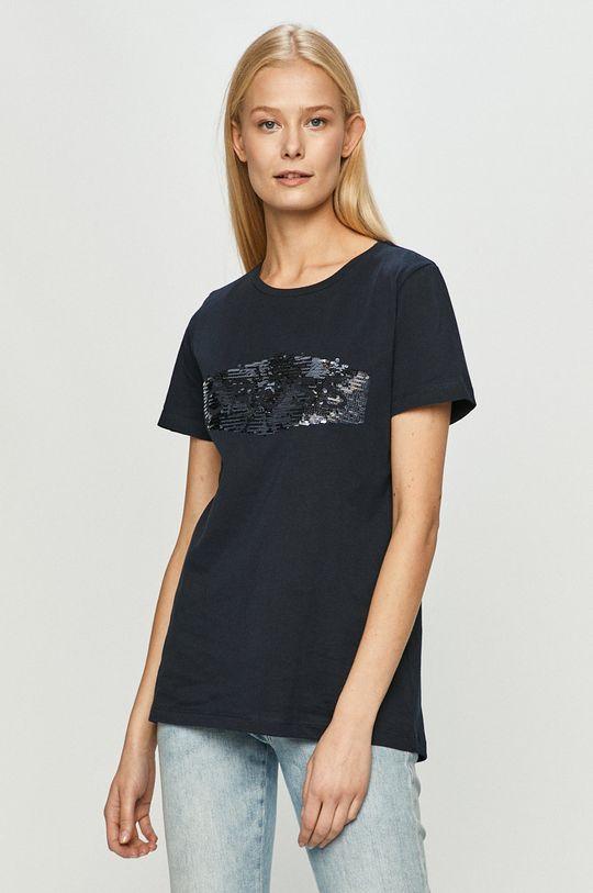 granatowy Cross Jeans - T-shirt Damski