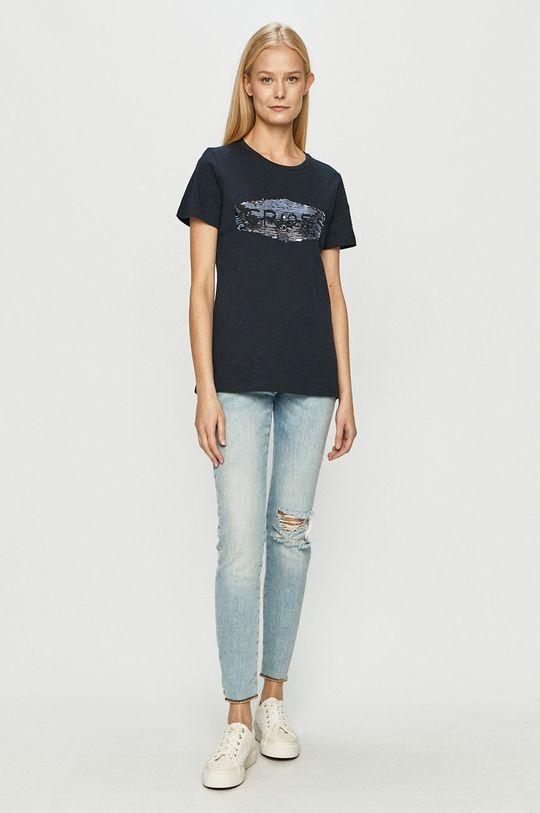 Cross Jeans - T-shirt granatowy