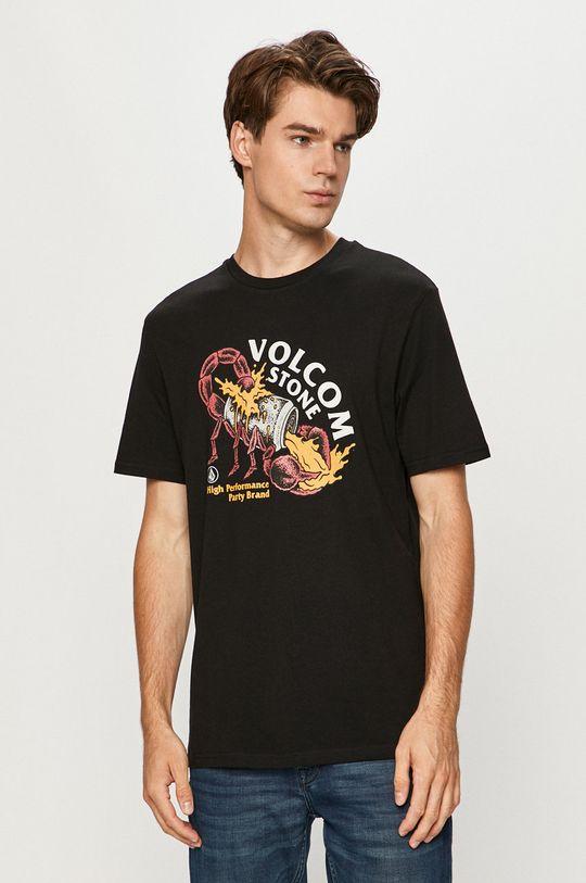 čierna Volcom - Tričko Pánsky