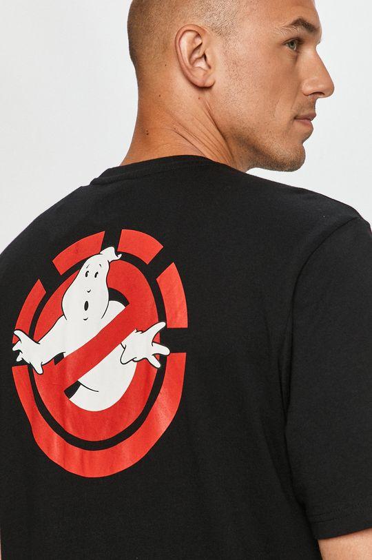 čierna Element - Tričko x GhostBusters Pánsky