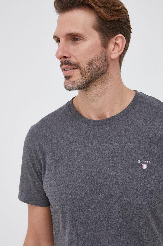 jasny szary Gant - T-shirt bawełniany