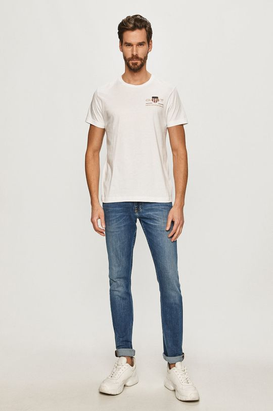 Gant - T-shirt biały