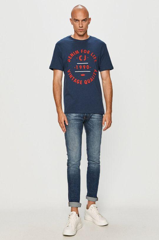 Cross Jeans - Tričko námořnická modř