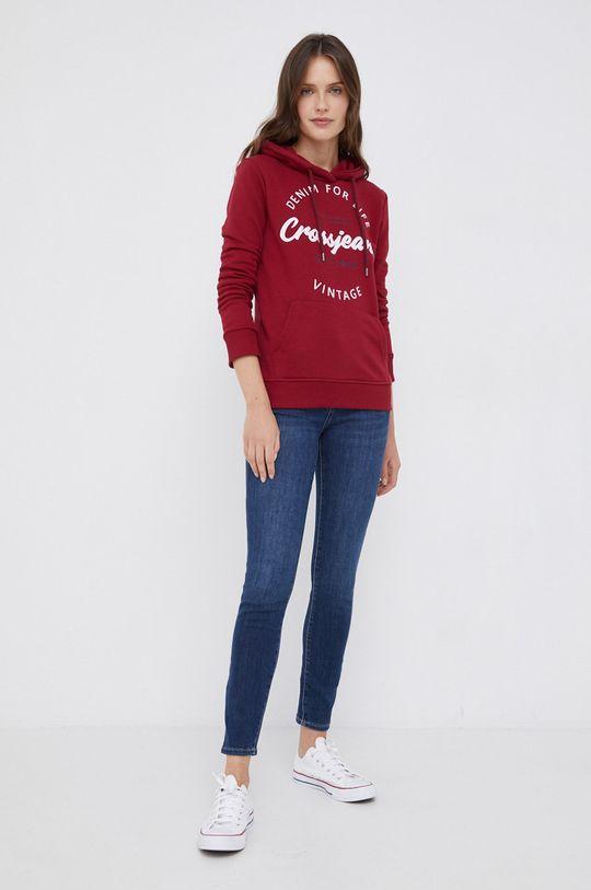Cross Jeans - Μπλούζα κάστανο