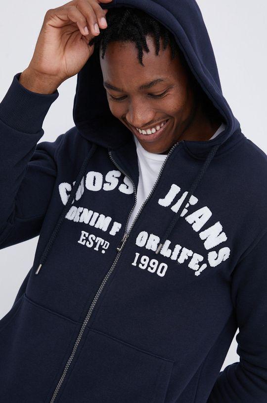 σκούρο μπλε Cross Jeans - Μπλούζα Ανδρικά