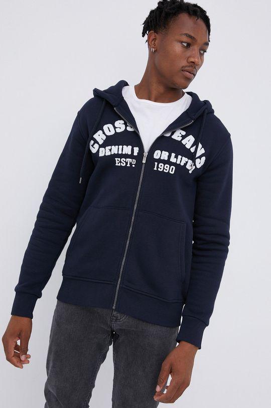 Cross Jeans - Μπλούζα σκούρο μπλε