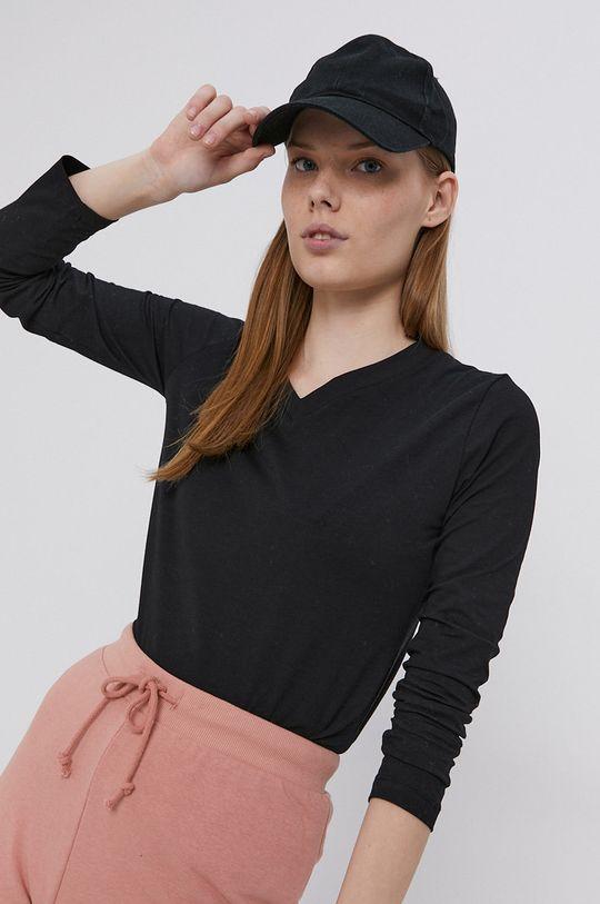 čierna Cross Jeans - Tričko s dlhým rukávom Dámsky