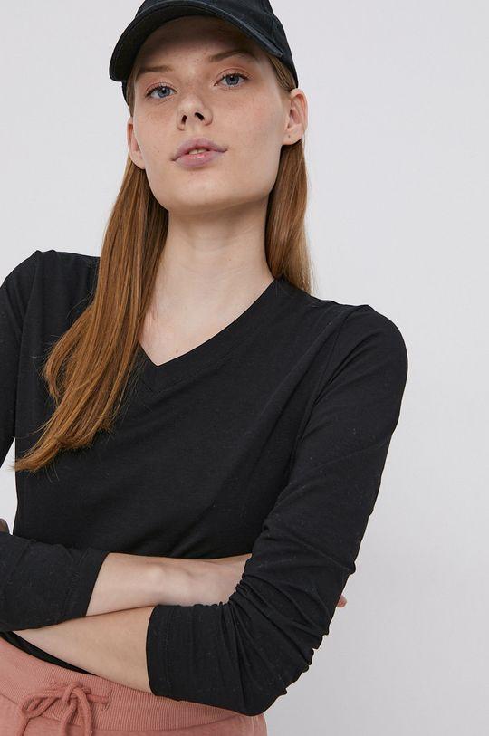 čierna Cross Jeans - Tričko s dlhým rukávom