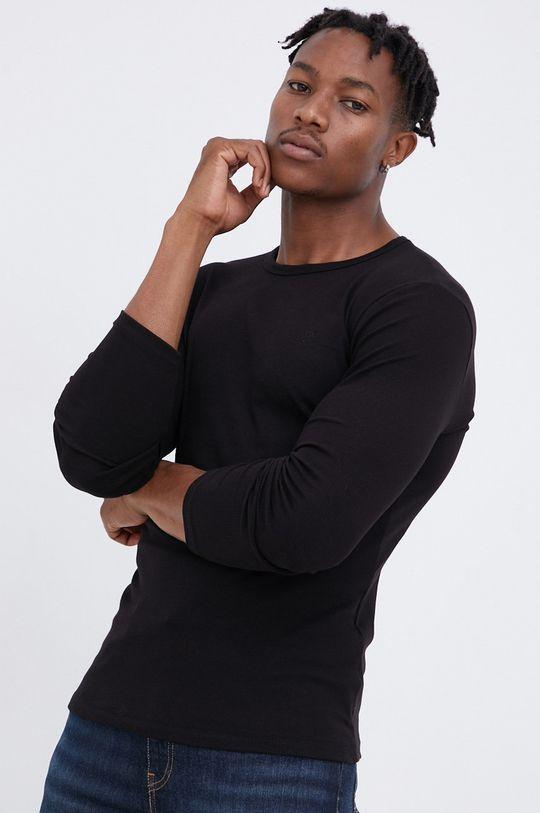 μαύρο Cross Jeans - Longsleeve Ανδρικά