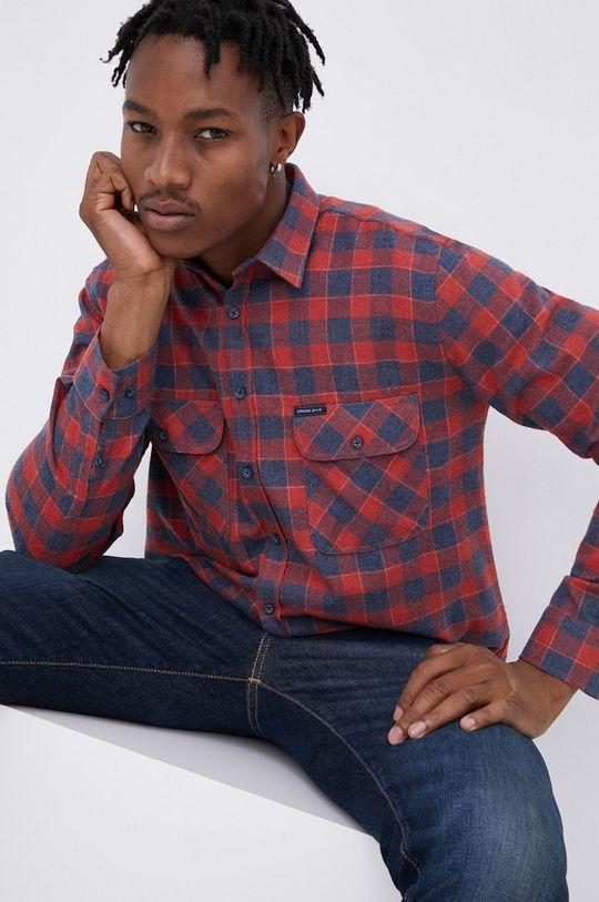 κόκκινο Cross Jeans - Πουκάμισο Ανδρικά