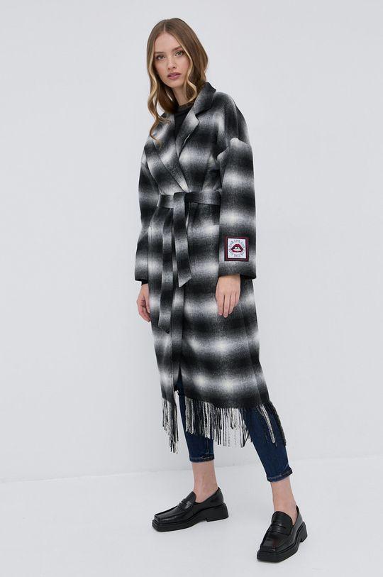 Silvian Heach - Płaszcz z domieszką wełny multicolor