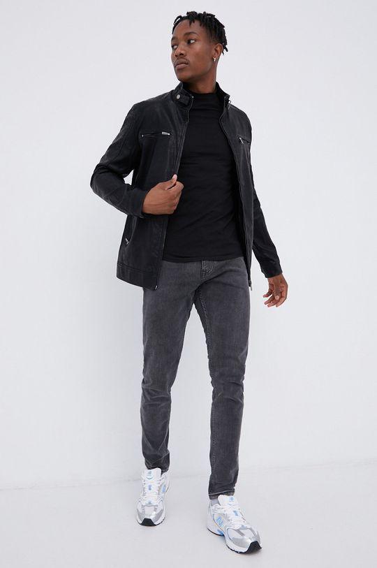 czarny Cross Jeans - Kurtka Męski