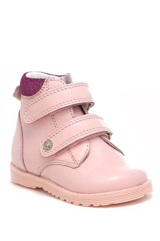 Bartek - incaltaminte din piele pentru copii roz pastelat