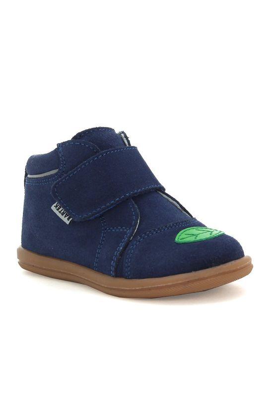Bartek - Pantofi din piele intoarsa pentru copii bleumarin