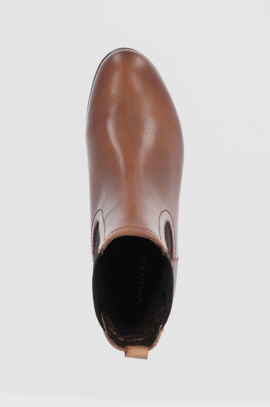 brązowy Wojas - Sztyblety skórzane