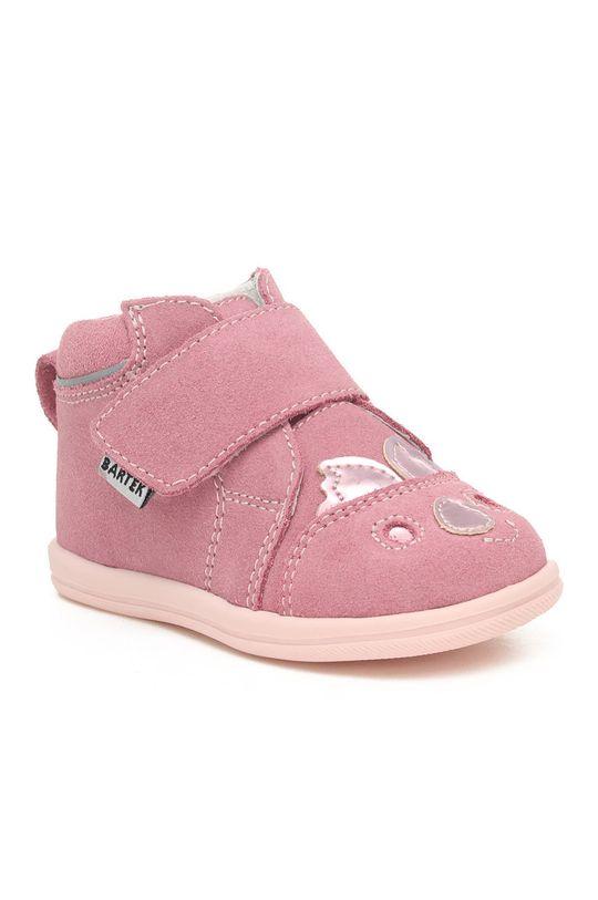 Bartek - Pantofi din piele intoarsa pentru copii orhidee