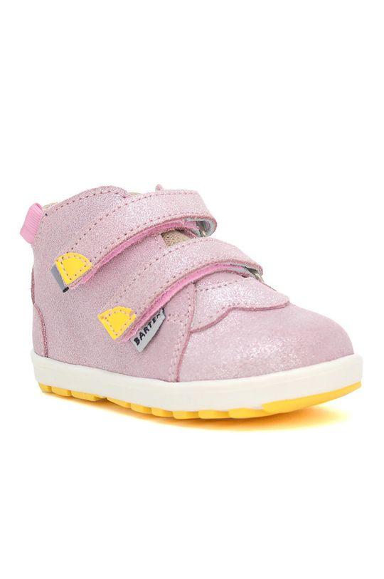 Bartek - Pantofi din piele intoarsa pentru copii roz