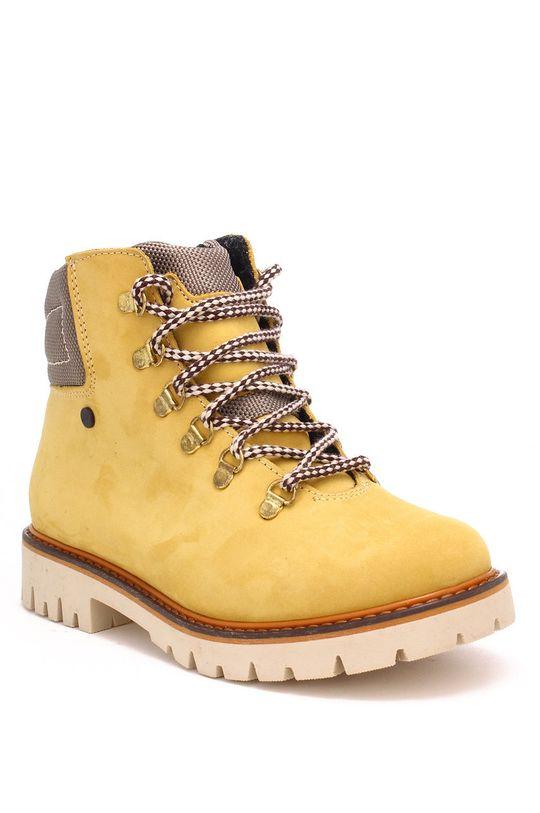 Bartek - Detské semišové topánky horčicová