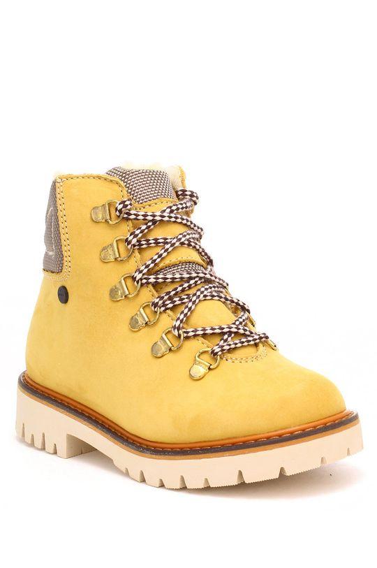 Bartek - Pantofi din piele intoarsa pentru copii mustar