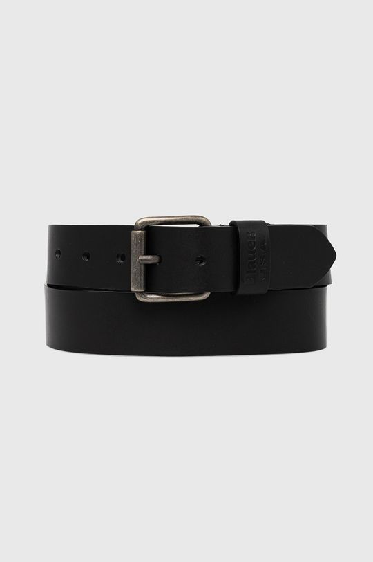 černá Blauer - Kožený pásek Pánský
