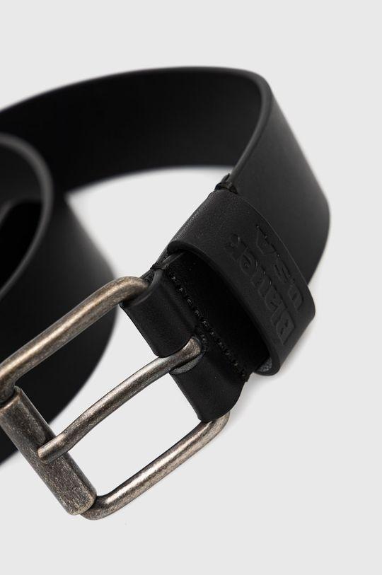 Blauer - Kožený pásek černá