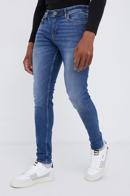 niebieski Cross Jeans - Jeansy bawełniane Scott Męski