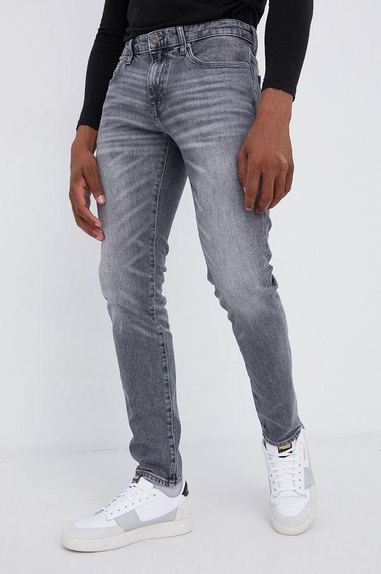 szary Cross Jeans - Jeansy bawełniane Tapered Męski