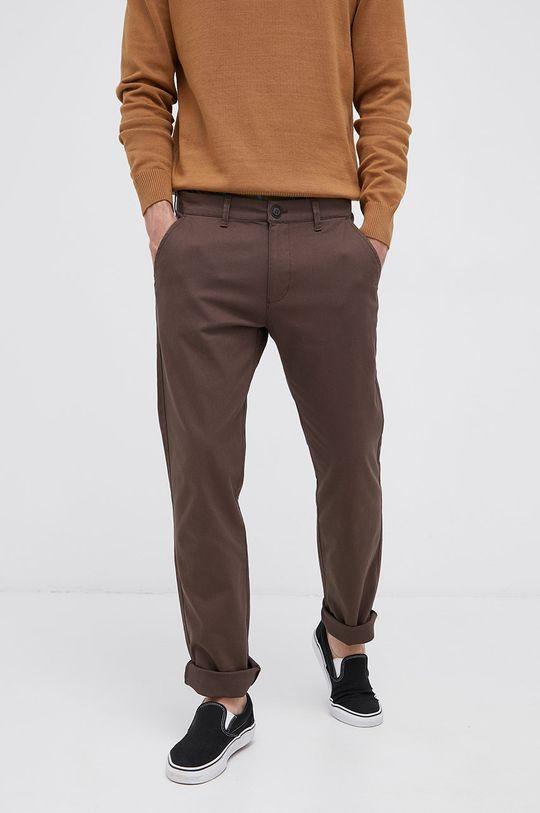 brązowy Cross Jeans - Spodnie Męski