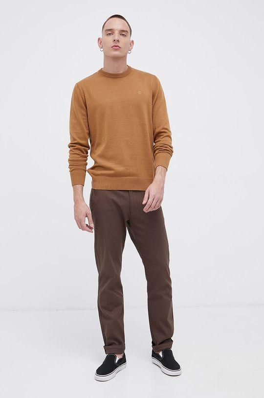 Cross Jeans - Spodnie brązowy