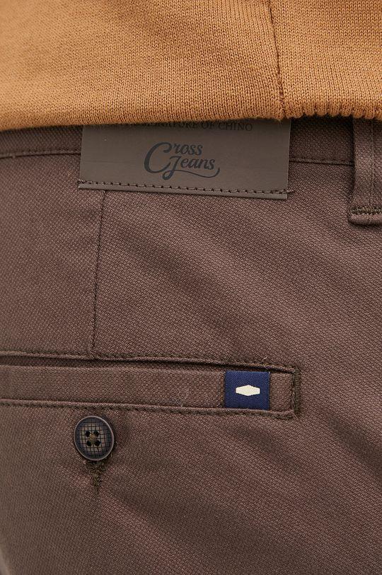 brązowy Cross Jeans - Spodnie