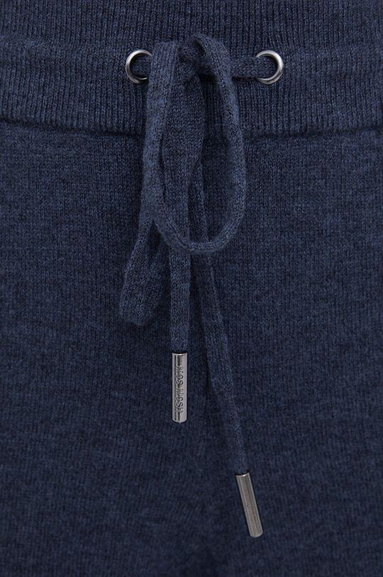 granatowy Mos Mosh - Spodnie wełniane