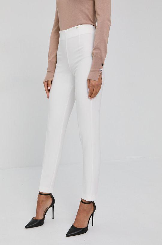 biały NISSA - Spodnie Damski