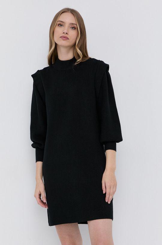 czarny Silvian Heach - Sukienka Damski