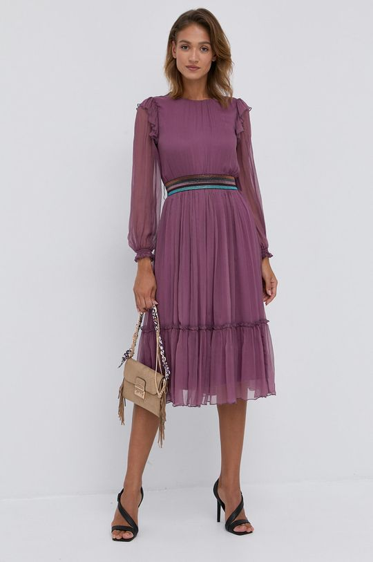 NISSA - Sukienka purpurowy