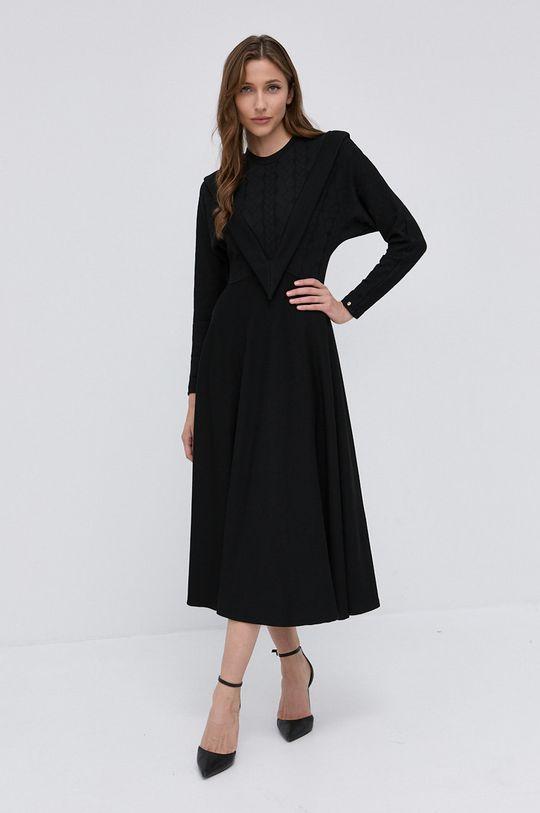 czarny NISSA - Sukienka Damski
