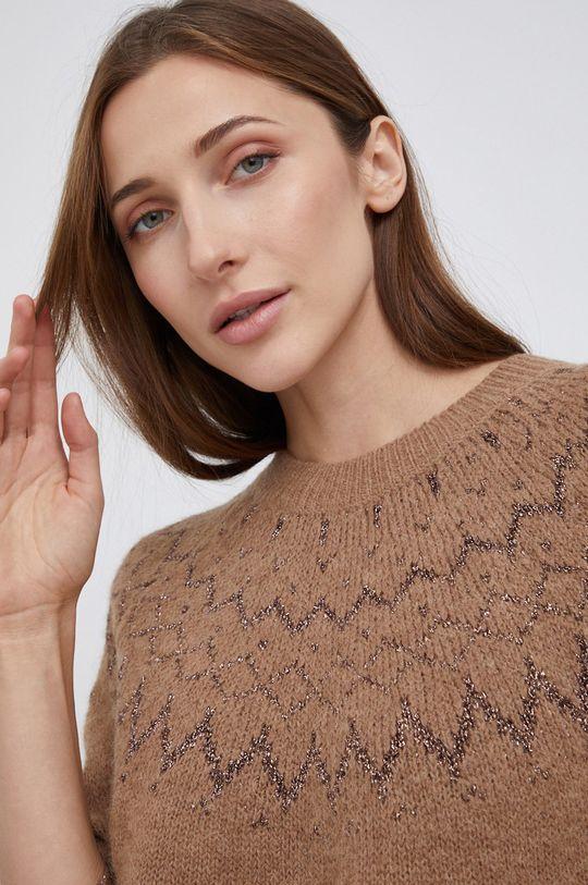 złoty brąz Mos Mosh - Sweter z domieszką wełny
